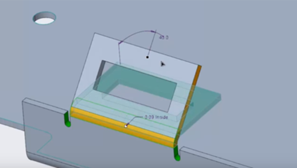Sheetmetal change with constant flange length