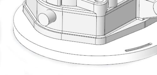 A superfície de divisão é selecionada para dividir a superfície partilhada em duas partes. Para dividir superfícies partilhadas onde o sistema remova somente as partes que pertencem a forma selecionada, siga as seguintes etapas: 1. Selecione a forma a remover. 2. Clique em Remove Surface>Opções 3. Selecione a caixa de verificação Auto split shape surfaces