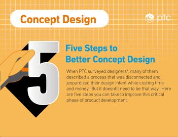 Infográfico: 5 passos para um melhor design conceptual