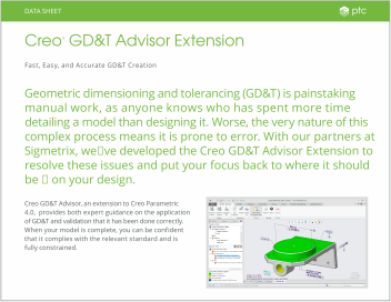 Datasheet: Creo DG&T Advisor Extension