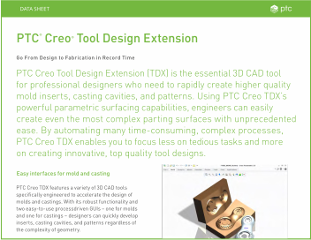 Datasheet: Tool Design Extension (TDX)