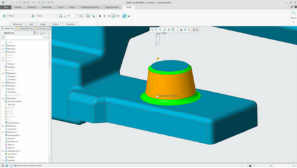 PTC Creo 5.0 Draft features