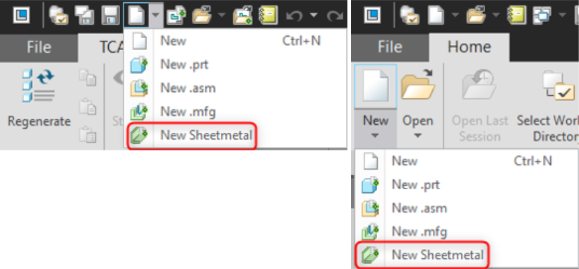 Mapkey PTC Creo New Sheetmetal