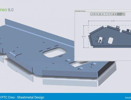Tutorial – Sheetmetal Design // Alternar entre a vista planificada e a vista formada de uma peça em chapa