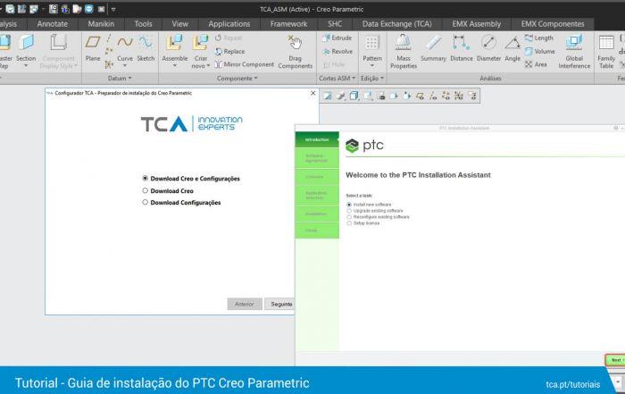 Guia instalação PTC Creo Parametric