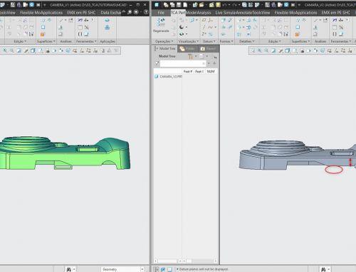 Comparação de ficheiros PDF de desenhos 2D – Creo View MCAD