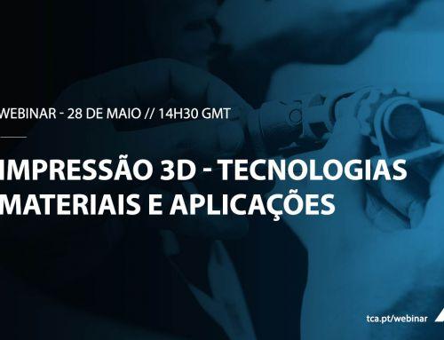 Webinar – Impressão 3D: tecnologias, materiais e aplicações