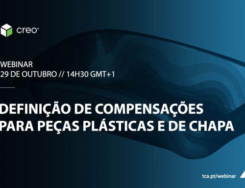 Webinar  PTC Creo – Definição de compensações para peças plásticas e de chapa